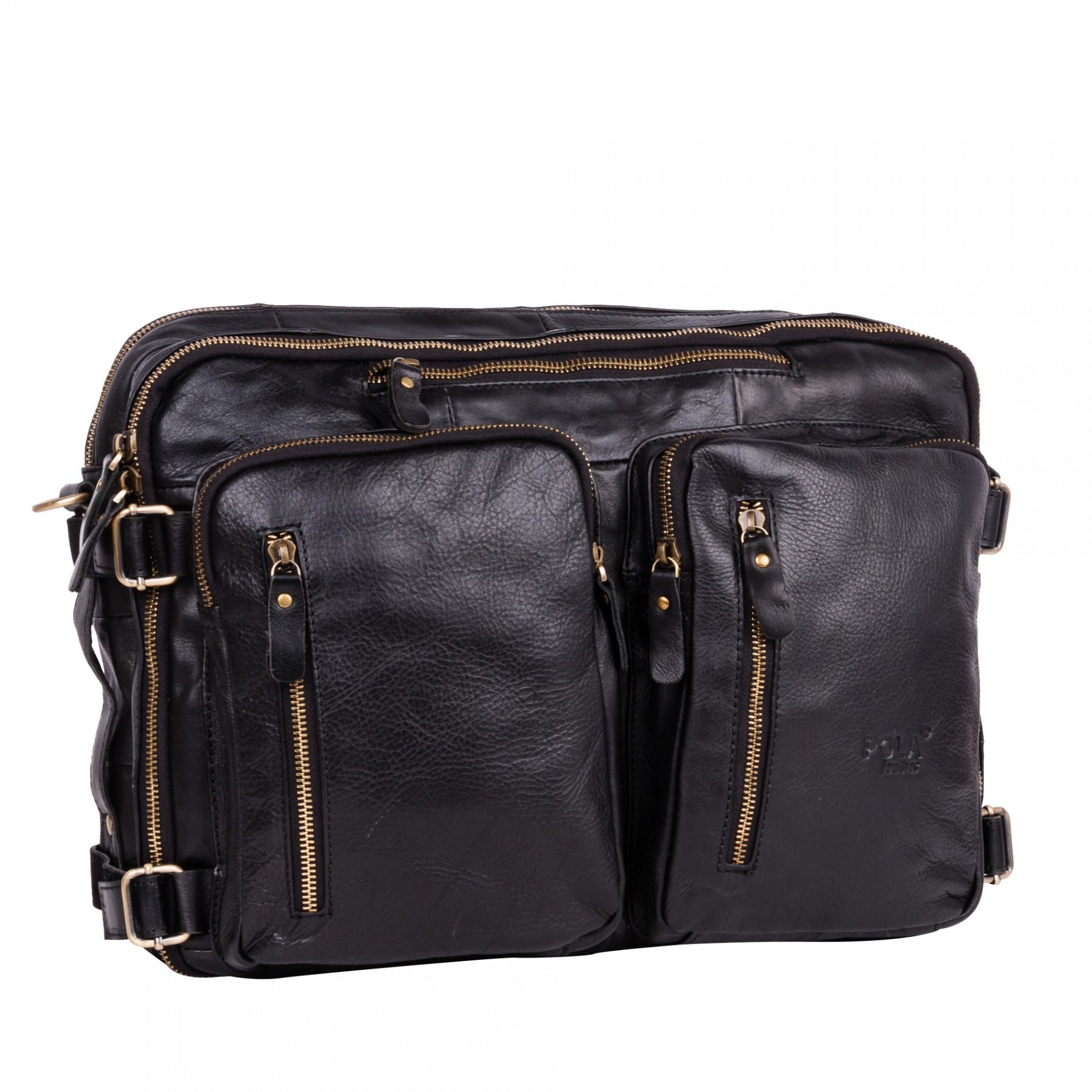 7ff893e0a3d8 Мужская сумка Pola 6031 черная черный купить недорого